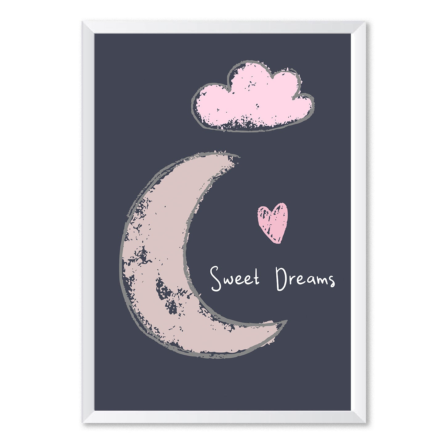 Sweet Dreams Moon Poster Print-Print-Mode Prints
