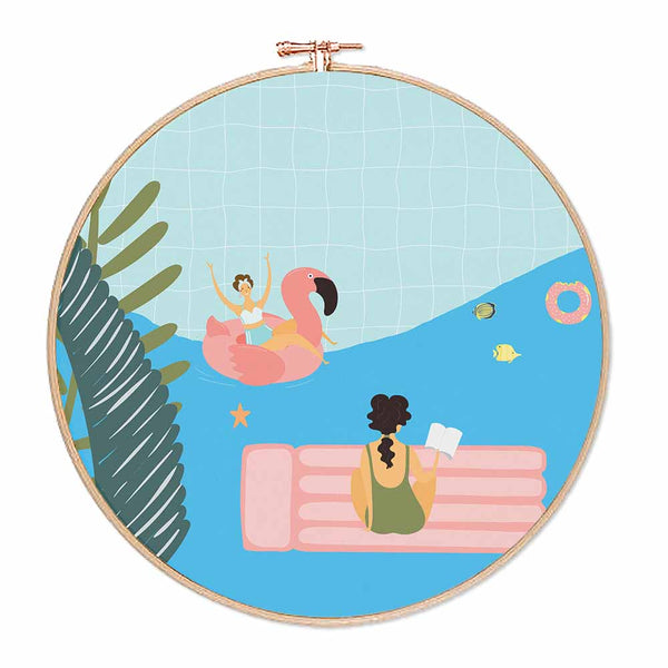 Swimming Pool Figurines Hoop