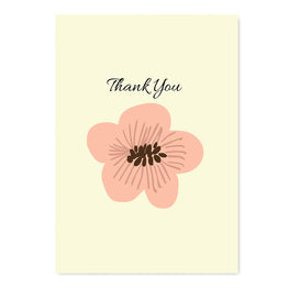 Thank You Flower Card-Greeting Cards-Mode Prints