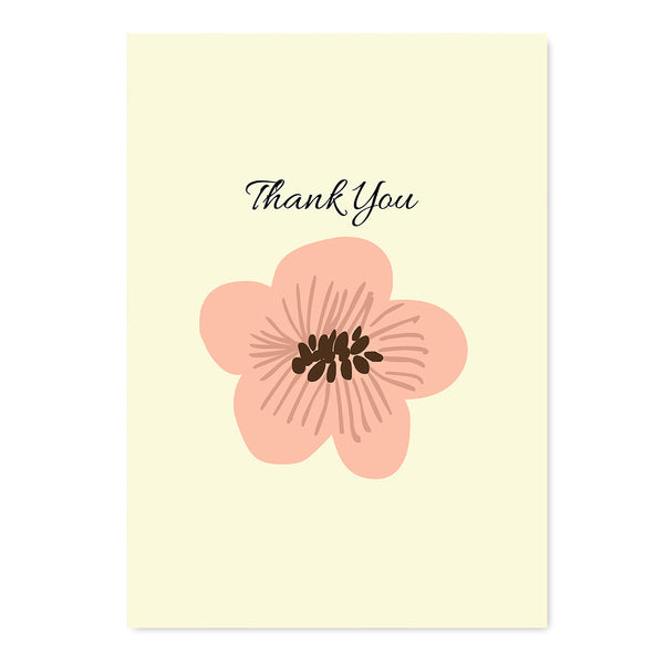 Thank You Flower Card - Mode Prints