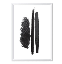 Three Line Mono Art Poster Print