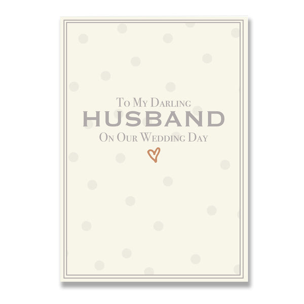 To My Darling Husband On Our Wedding Day Greeting Card - Mode Prints