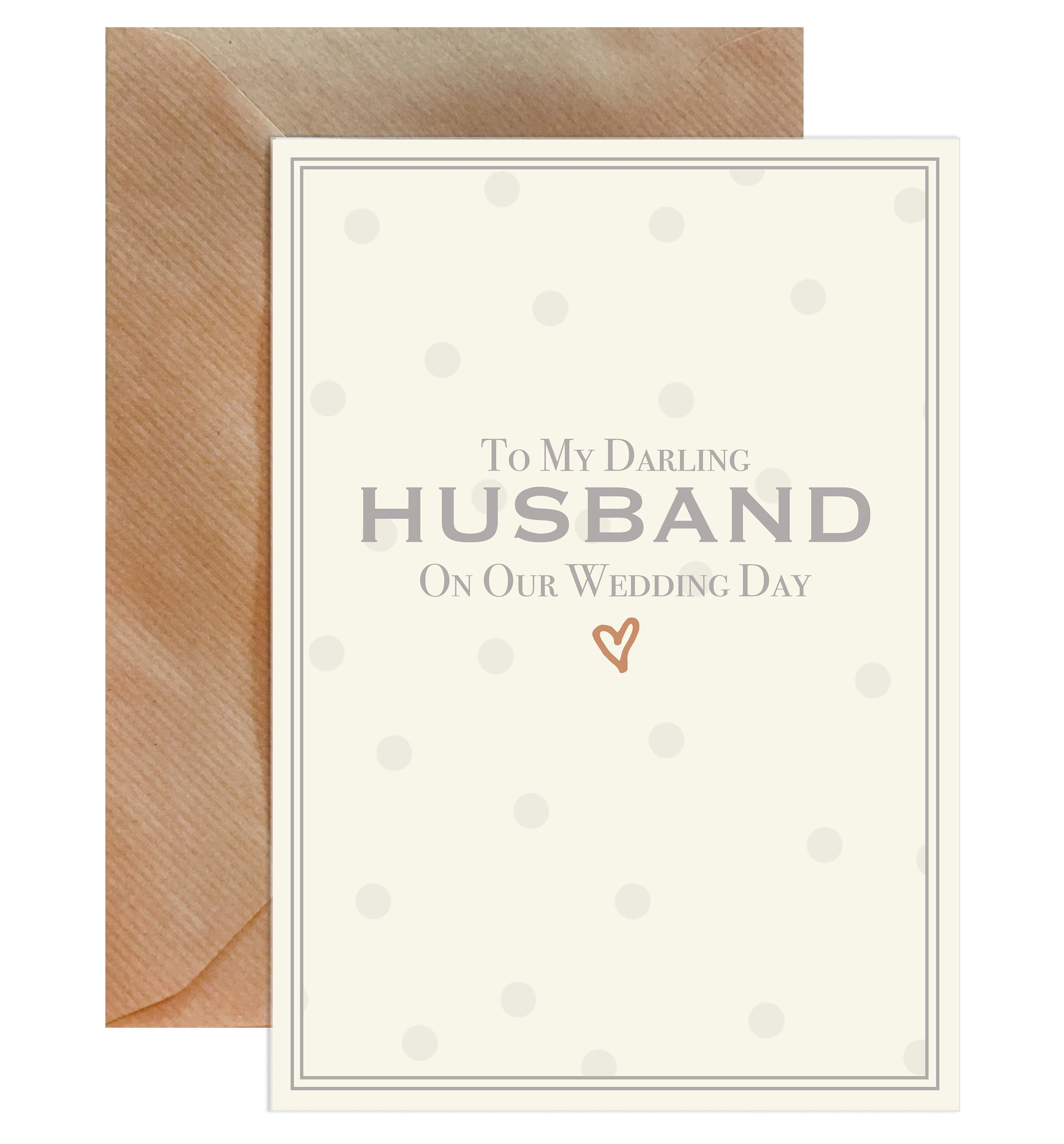 To My Darling Husband On Our Wedding Day Greeting Card-Greeting Cards-Mode Prints