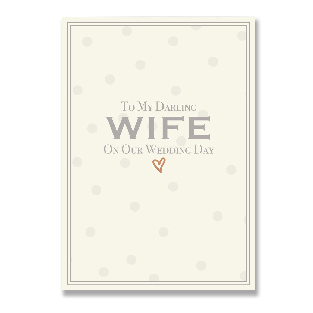To My Darling Wife On Our Wedding Day Greeting Card-Greeting Cards-Mode Prints