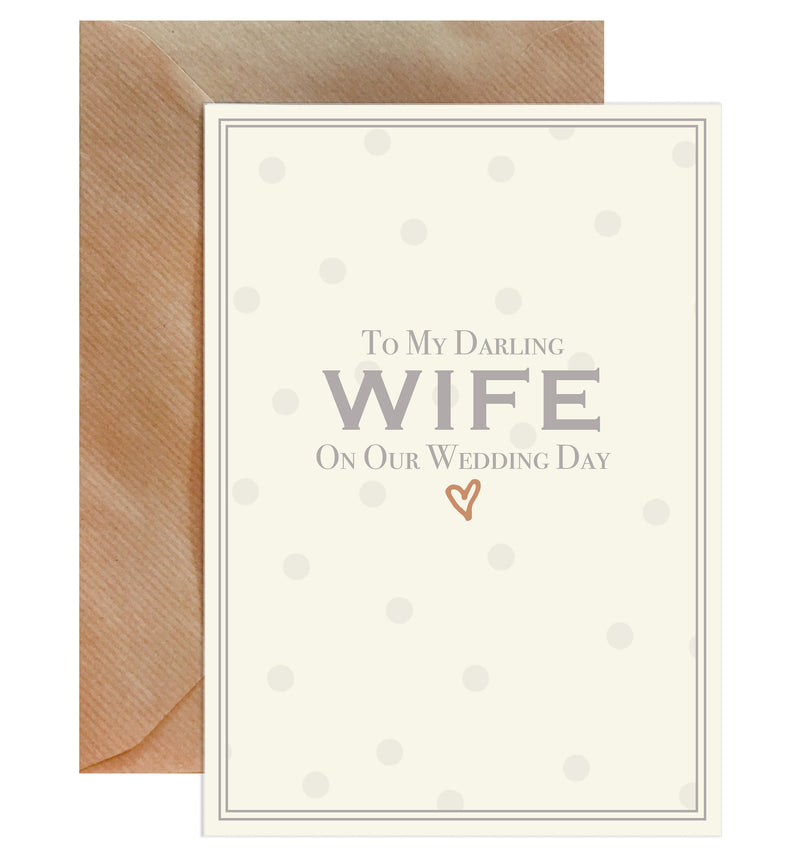To My Darling Wife On Our Wedding Day Greeting Card - Mode Prints