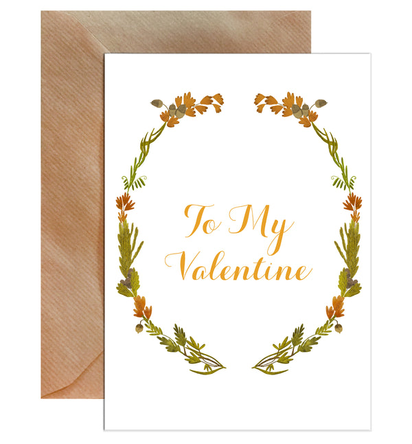 To My Valentine Floral Valentine's Day Greeting Card - Mode Prints