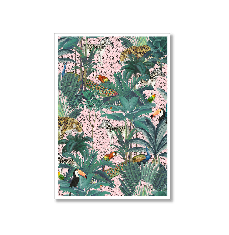 Tropical Jungle Watercolour Set Of Two Poster Prints - Mode Prints