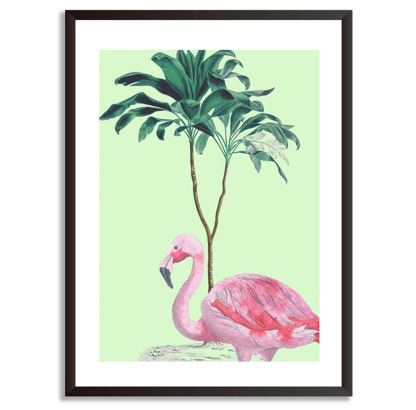 Tropical Jungle Flamingo Wall Art Print - Mode Prints