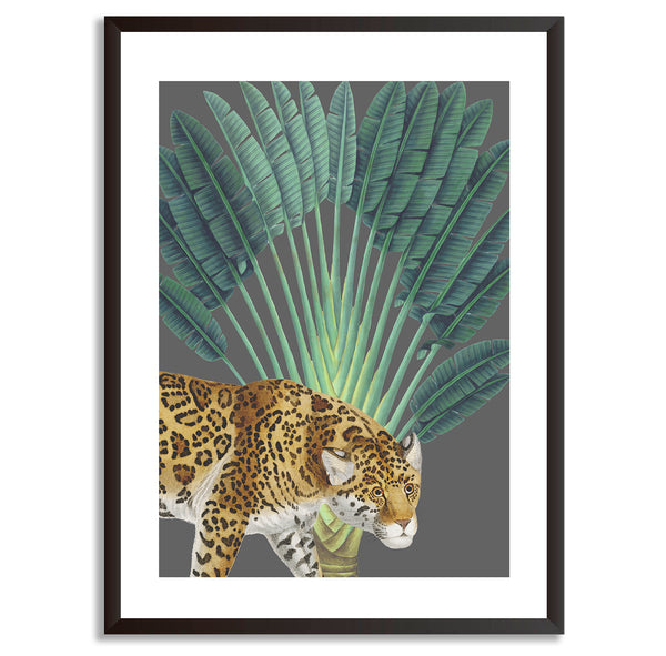 Tropical Jungle Leopard Wall Art Print - Mode Prints