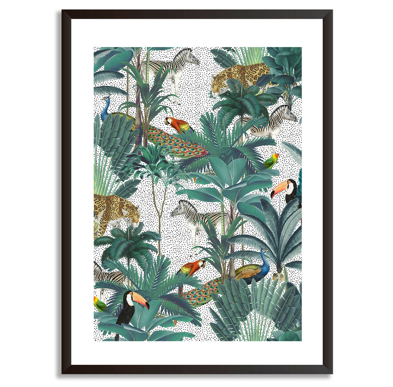 Tropical Jungle Animal Wall Art Print - Mode Prints