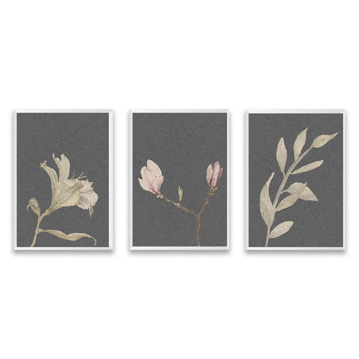 Set Of Three Vintage Botanical Poster Prints