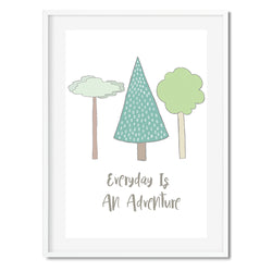 Everyday Is An Adventure Wall Art Print - Mode Prints