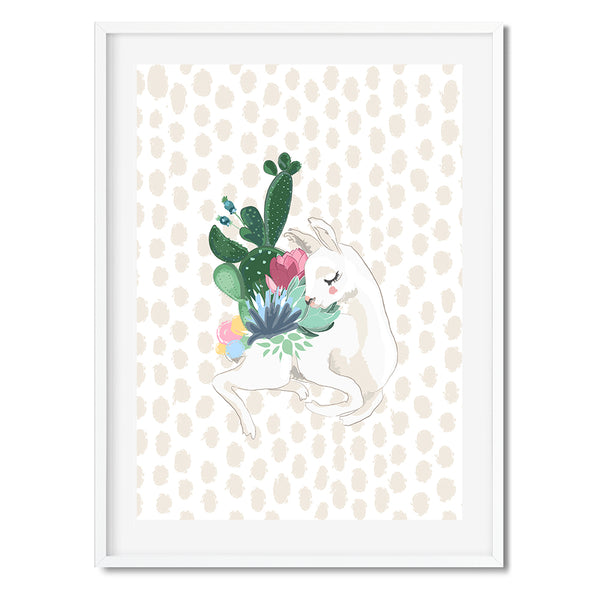 Cactus Oh My Llama Wall Art Print - Mode Prints