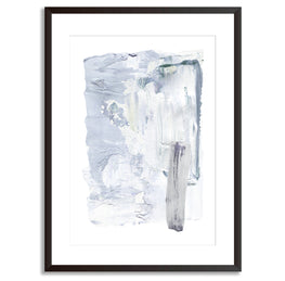 Blue Watercolour Abstract Poster Print