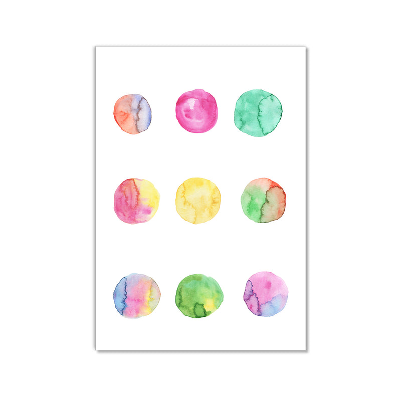 Watercolour Circles Wall Art Print - Mode Prints
