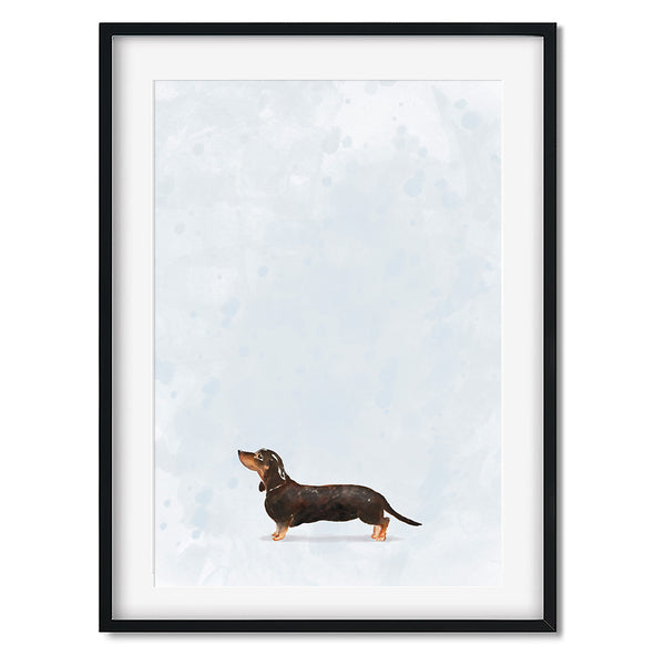 Dachshund Sausage Dog Watercolour Dog Print