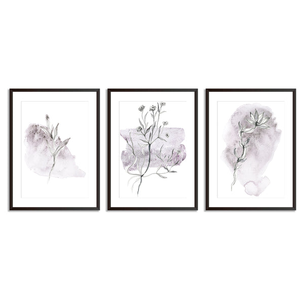 Set Of Three Watercolour Sketches Poster Prints - Mode Prints