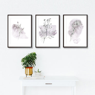 Set Of Three Watercolour Sketches Poster Prints