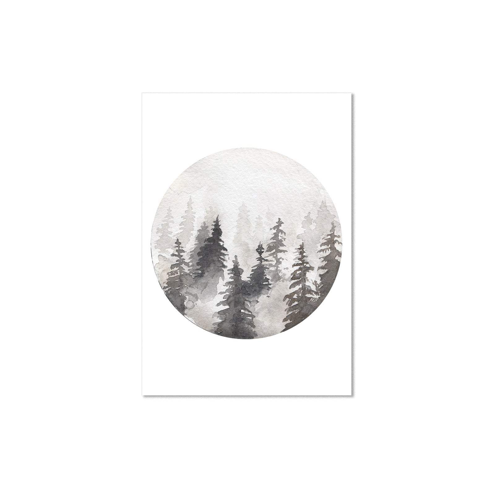 Watercolour Forest Poster Print-Print-Mode Prints