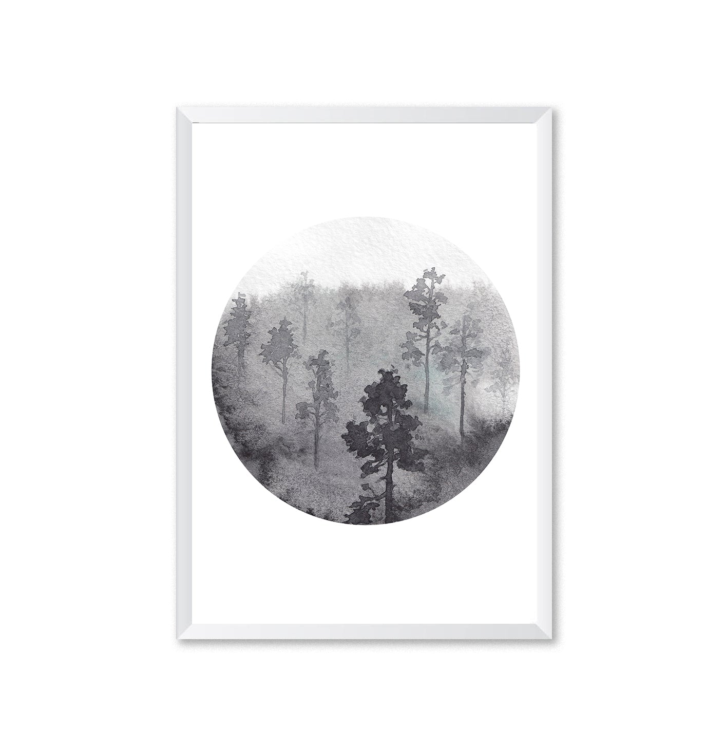 Watercolour Forest 3 Poster Print-Print-Mode Prints