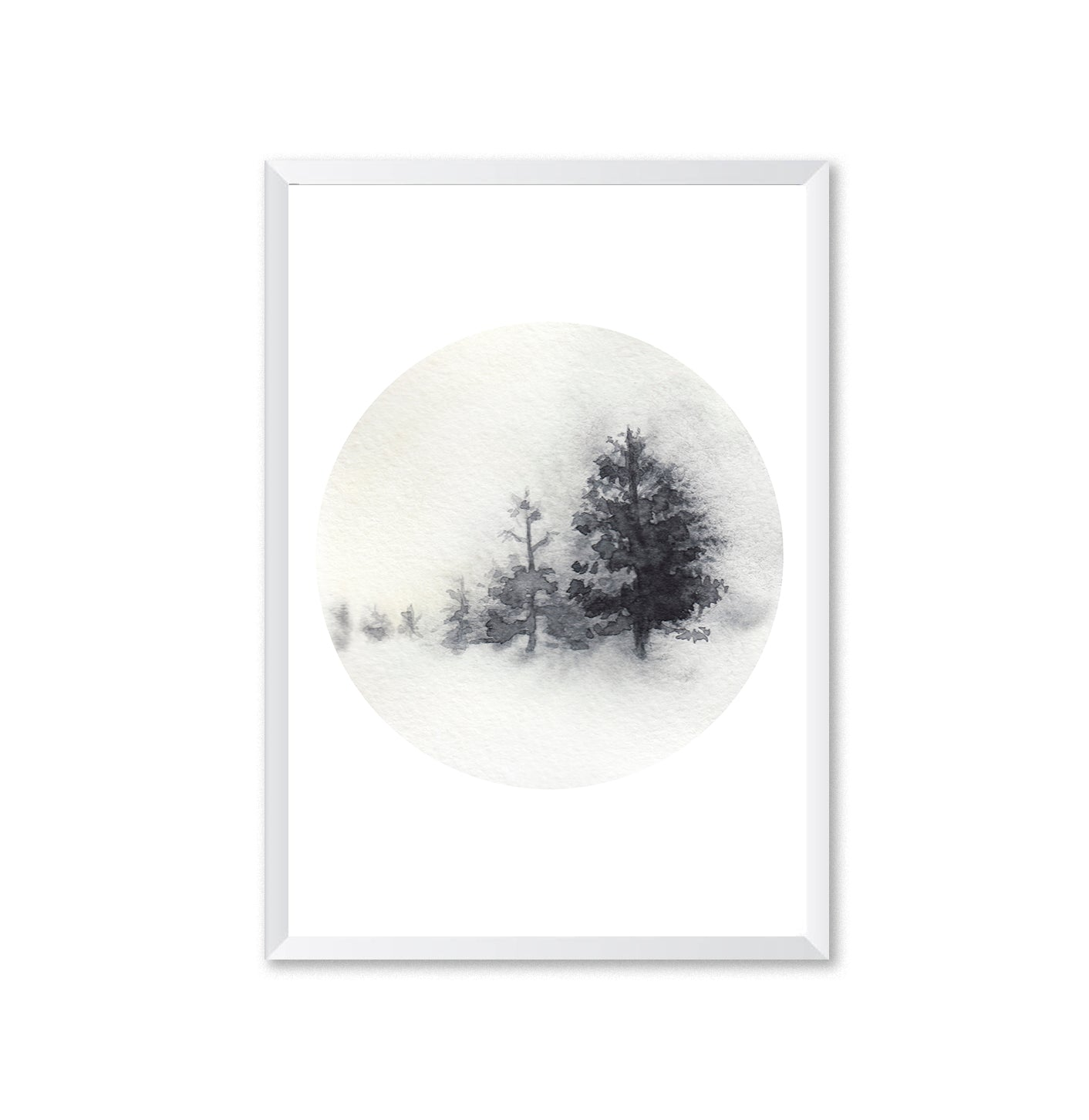 Watercolour Forest 5 Poster Print-Print-Mode Prints