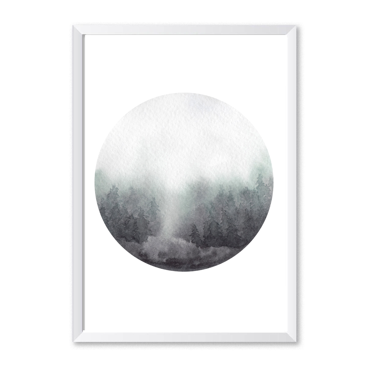 Watercolour Forest 6 Poster Print-Print-Mode Prints