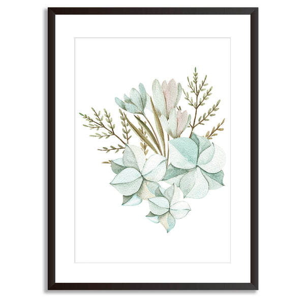 Watercolour Leaves 3 Art Print