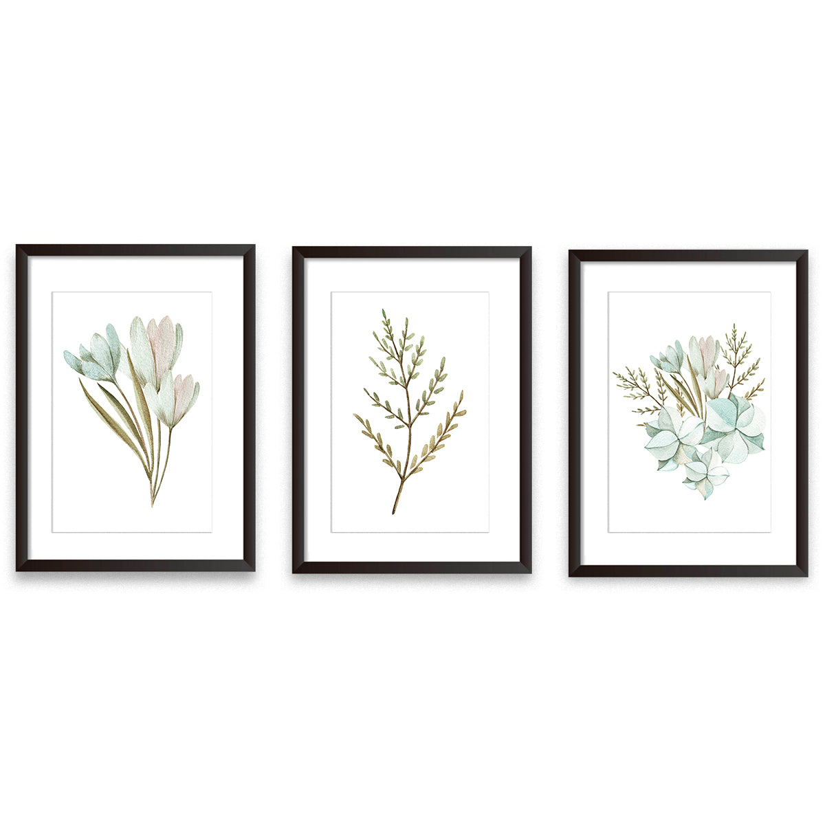 Set Of Three Botanical Poster Prints
