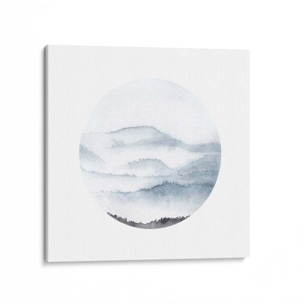 Watercolour Mountains Canvas Art Print
