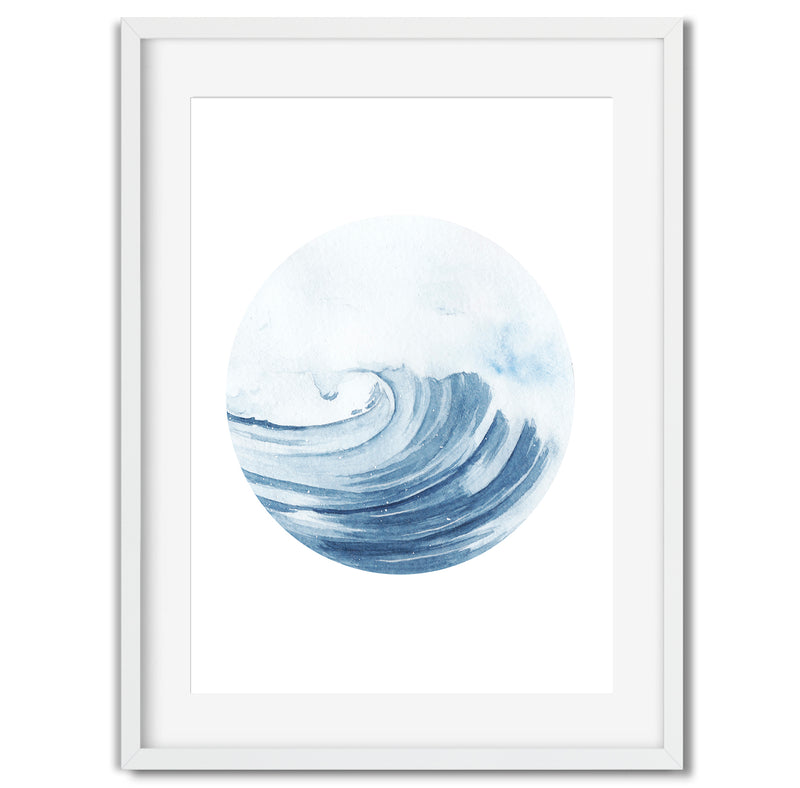 Watercolour Seascape Ocean Breeze Wall Art Print