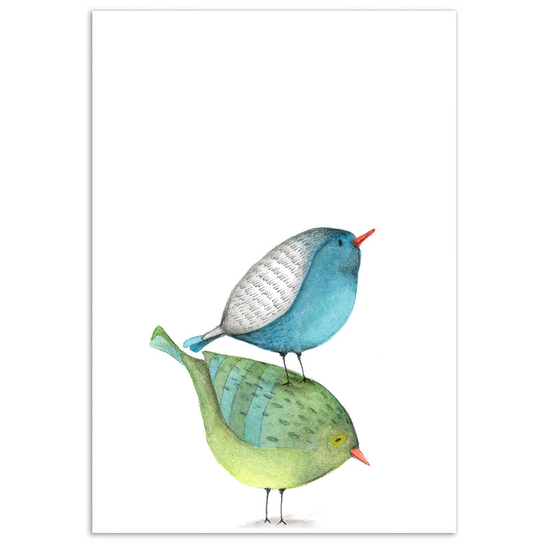 Watercolour Birds Print