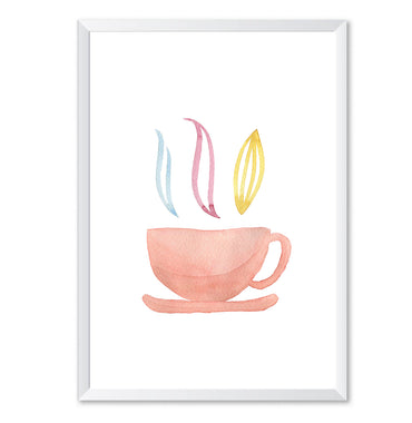 Watercolour Tea Cup Poster Print