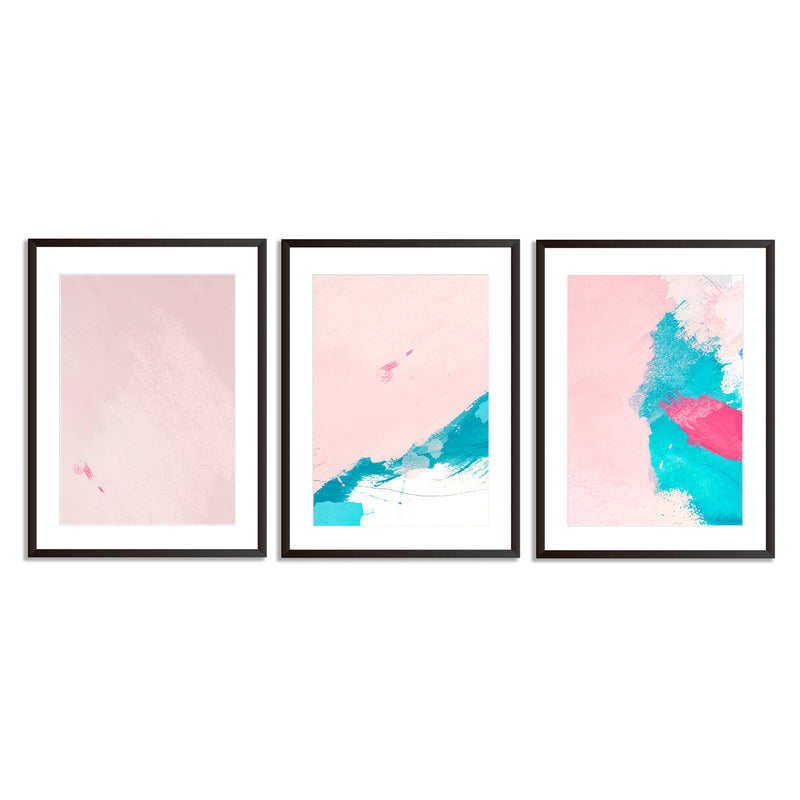 Set Of Three Abstract Textures Wall Art Prints - Mode Prints