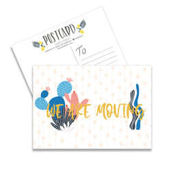 We Are Moving Cactus Set Of 10 Postcards-Notepaper Sets-Mode Prints
