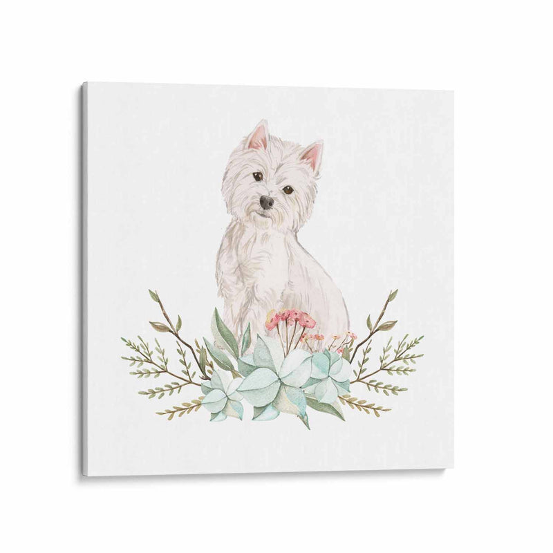 Westie Dog Canvas Art Print