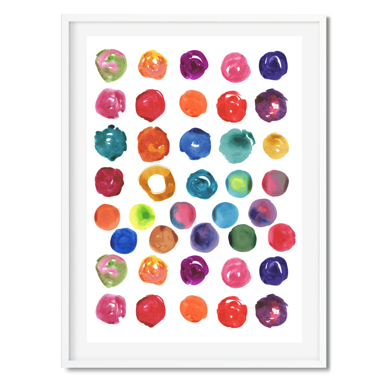 Watercolour Abstract Circles Wall Art Print - Mode Prints
