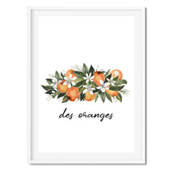 Botanical Des Oranges Wall Art Print - Mode Prints