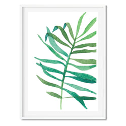 Watercolour Tropical Palm Wall Art Print
