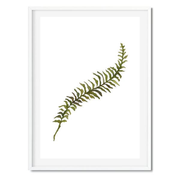 Watercolour Green Stem Wall Art Print