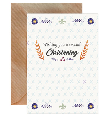 Wishing You A Special Christening Greeting Card-Greeting Cards-Mode Prints
