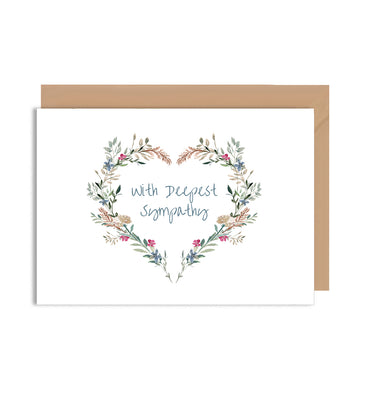 With Deepest Sympathy Greeting Card-Greeting Cards-Mode Prints