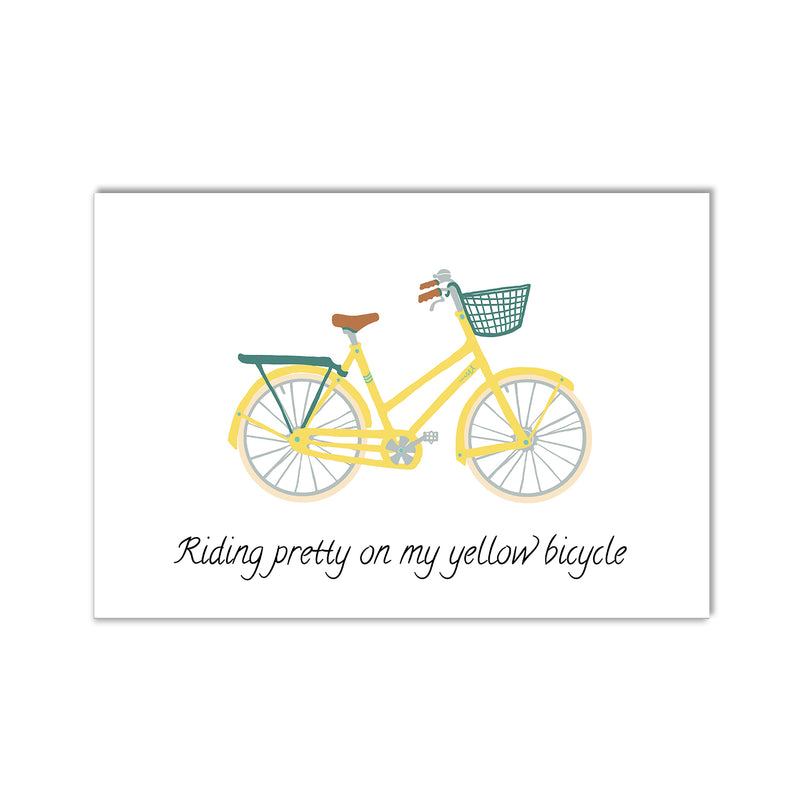 Yellow Bicycle Wall Art Print