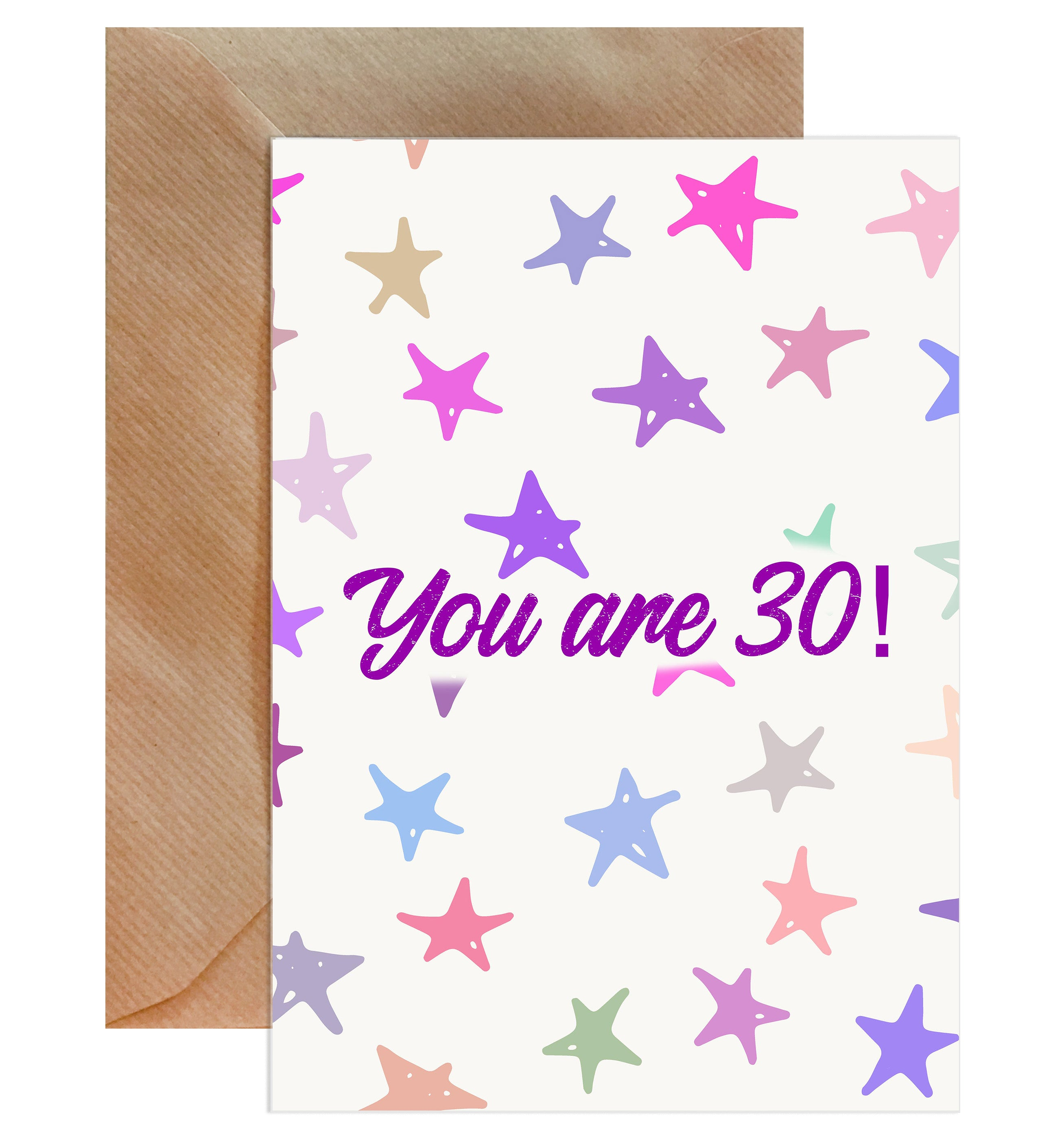 You Are 30! Happy Birthday Card-Greeting Cards-Mode Prints
