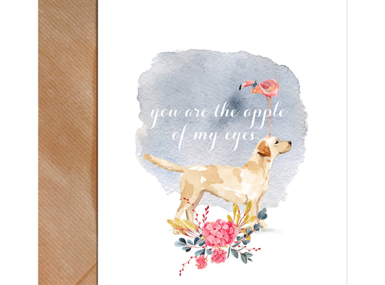 You Are The Apple Of My Eye Valentine's Day Greeting Card-Greeting Cards-Mode Prints