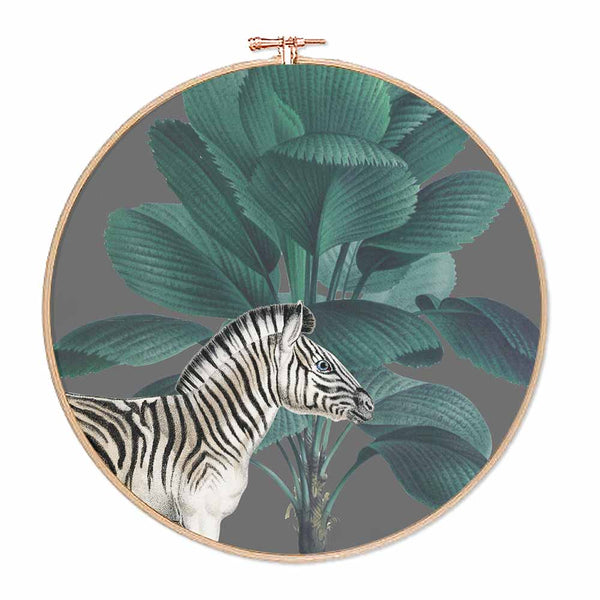 Tropical Jungle Zebra Hoop