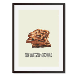 Self Confessed Chocolate Wall Art Print