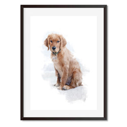 Labrador Retriever Watercolour Dog Wall Art Print