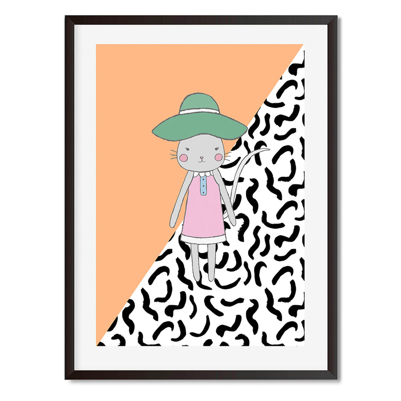Mode Fashion Girl Mouse Wall Art Print - Mode Prints