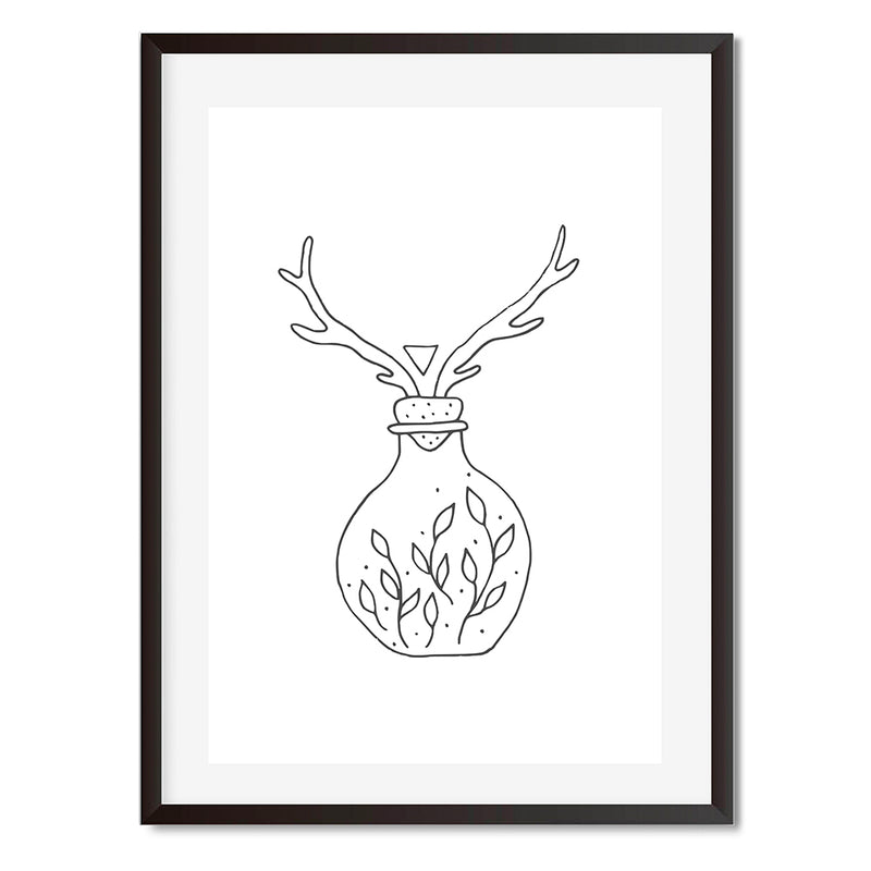 Deer Terrarium Wall Art Print - Mode Prints