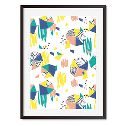 Geometric Colourful Wall Art Print - Mode Prints